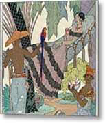 The Idle Beauty Metal Print by Georges Barbier