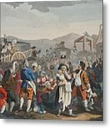 The Idle Prentice Executed At Tyburn Metal Print