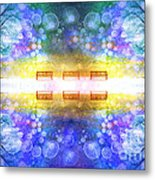 The Illusion Benches Metal Print