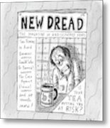 The Image Is The Front Cover Of New Dread: Metal Print