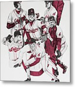 The Indians' Glory Years-late 90's Metal Print