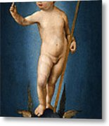 The Infant Christ On The Orb Of The World Metal Print