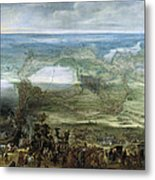 The Infanta Isabella Clara Eugenia At The Siege Of Breda Of 1624 Metal Print