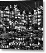 The Inn At Christmas Place Night Metal Print