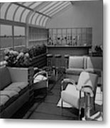 The Interior Of A Rooftop Terrace Metal Print