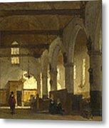 The Interior Of The Bakenesserkerk. Haarlem Metal Print