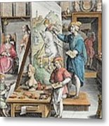The Invention Of Oil Paint, Plate 15 Metal Print