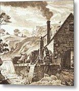 The Iron Forge Between Dolgelli Metal Print
