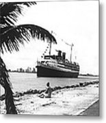 The Iroquois In Biscayne Bay Metal Print