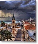the Jaffa old clock tower Metal Print