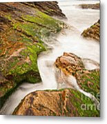 The Jagged Rocks And Cliffs Of Montana De Oro State Park In California Metal Print