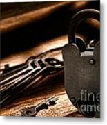 The Jailer Lock Metal Print by Olivier Le Queinec