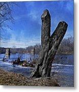 The James River One Metal Print