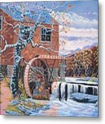 The Jamestown Mill Metal Print