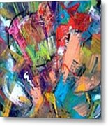 Jazz Abstract Painting Metal Print