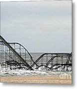 The Jetstar Rollercoaster In Seaside Heights Nj Metal Print
