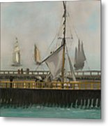 The Jetty Of Boulogne-ser-mer Metal Print