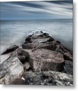 The Jetty Square Metal Print