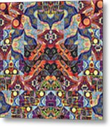 The Joy Of Design Mandala Series Puzzle 1 Arrangement 9 Metal Print