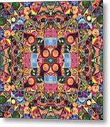 The Joy Of Design Mandala Series Puzzle 2 Arrangement 1 Metal Print