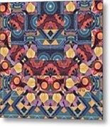 The Joy Of Design Mandala Series Puzzle 5 Arrangement 1 Metal Print