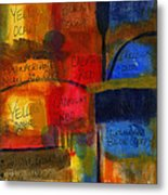 The Joy Of Planning An Abstract Painting At Starbucks Metal Print