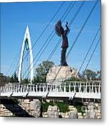 The Keeper Of The Plains In Wichita Metal Print