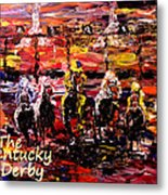 The Kentucky Derby - And They're Off Without Year  Metal Print
