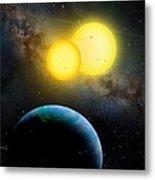 The Kepler 35 System Metal Print