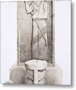 The King And Sacrificial Altar, Nimrud Metal Print