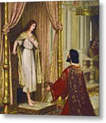 The King And The Beggar-maid Metal Print