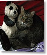 The King Kitty And Panda 01 Metal Print