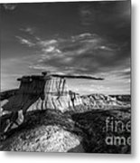 The King Of Wings Monochrome Metal Print