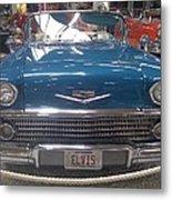 Elvis In Blue Metal Print