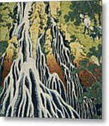 The Kirifuri Waterfall Metal Print by Hokusai