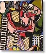 The Kiss Aka The Embrace After Picasso 1925 Metal Print