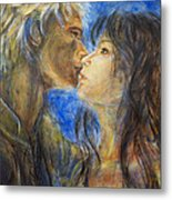 The Kiss In Landscape Metal Print