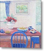 The Kitchen Table Laid For Lunch Metal Print