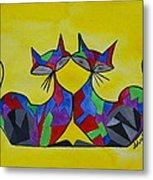 The Kitty Couple Metal Print by Shruti Prasad