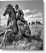 The Knight Goes Forth Metal Print by Daniel Hagerman