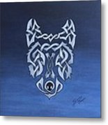 The Knotty Wolf Metal Print
