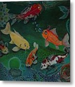 The Koi Life Metal Print by Denisse Del Mar Guevara