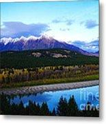 The Kootenenai River Surrounding The Canadian Rockies   Metal Print