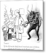 The Krampus In The Korner Metal Print