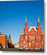 The Kremlin Towers And The State Museum Of Russian History Metal Print