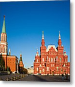 The Kremlin Towers And The State Museum Of Russian History - Square Metal Print