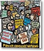 The Labor Movement Metal Print