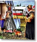 The Ladies And The Corgies Metal Print by Julie Dant
