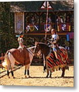 The Lady And The Knight Metal Print