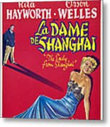 The Lady From Shanghai, Us Poster Art Metal Print